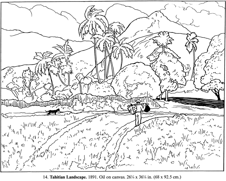 country scenery coloring pages - photo#21
