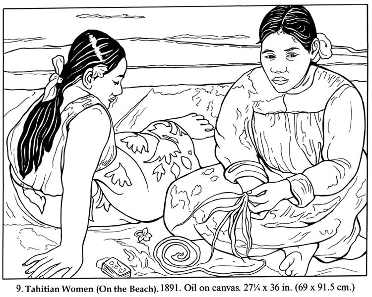 Ciao Bambini! Ciao Maestra!: Paul Gauguin Coloring Pages