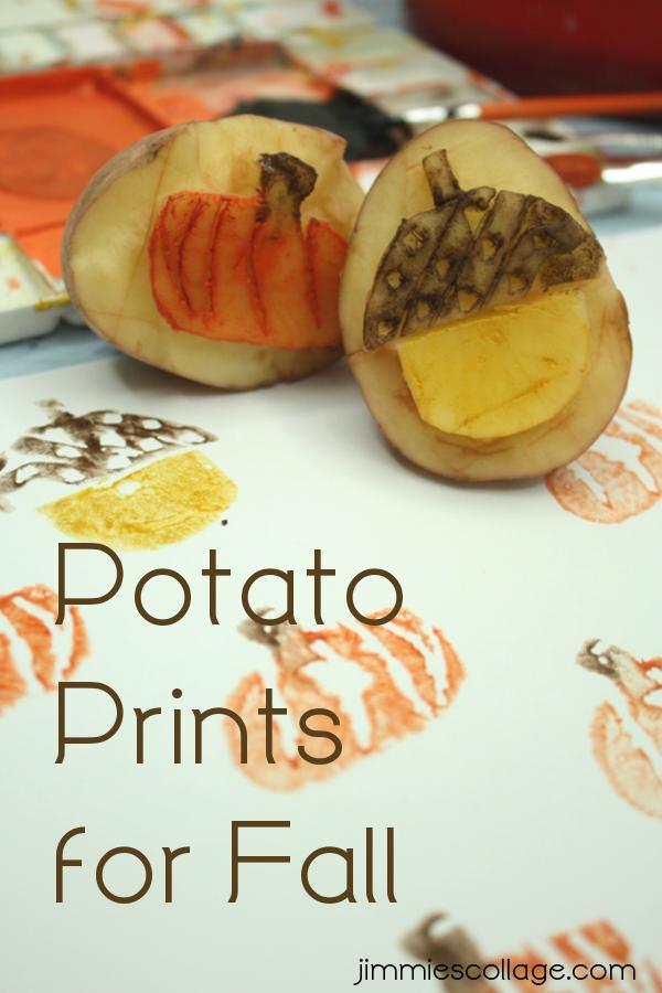 Potato Prints Fall Craft