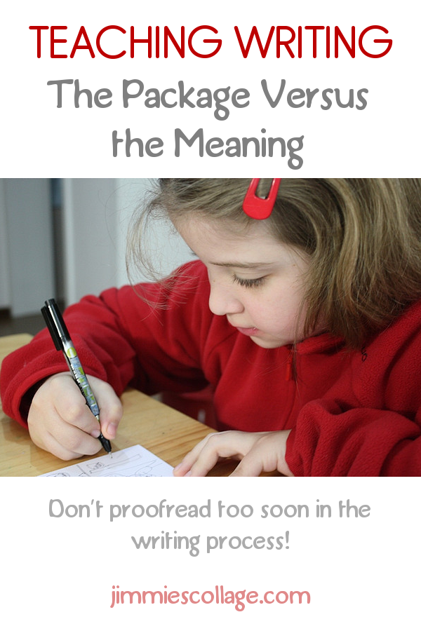 Teaching Writing: The package versus the meaning