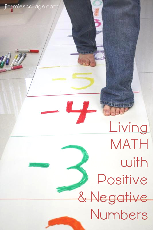Living math with positive and negative numbers for Floor number line