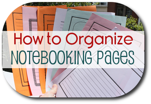 How to Organize Notebooking Pages