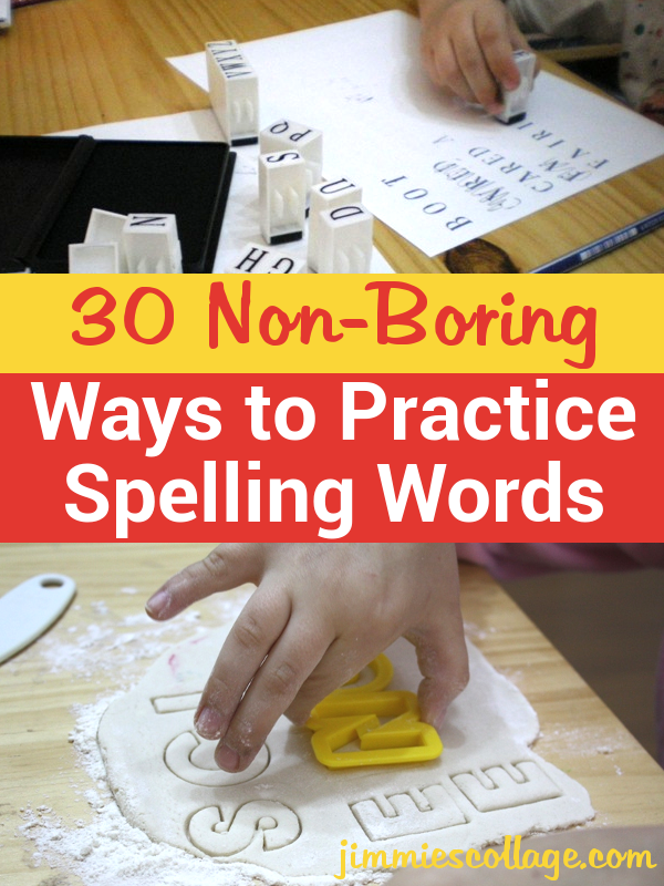 30 Non-Boring Ways to Practice Spelling Words