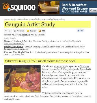 Paul Gauguin Artist Study