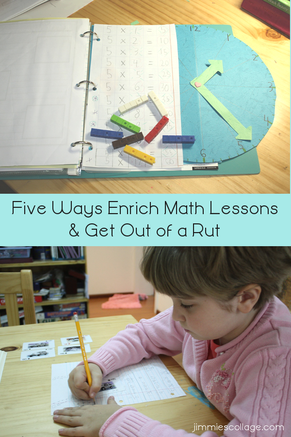 Five Ways Enrich Math Lessons and Get Out of a Rut