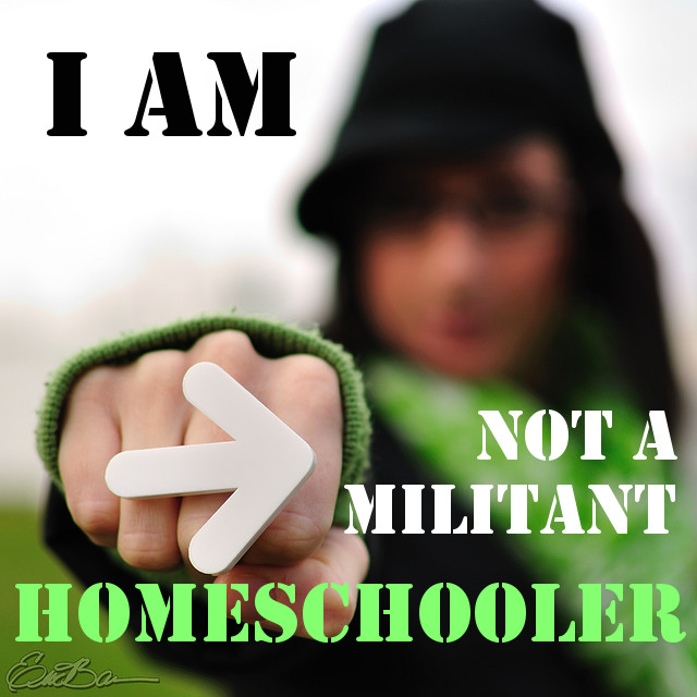 why I am not a militant homeschooler