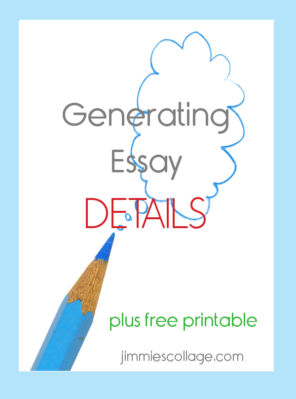 Generating Details for Essays