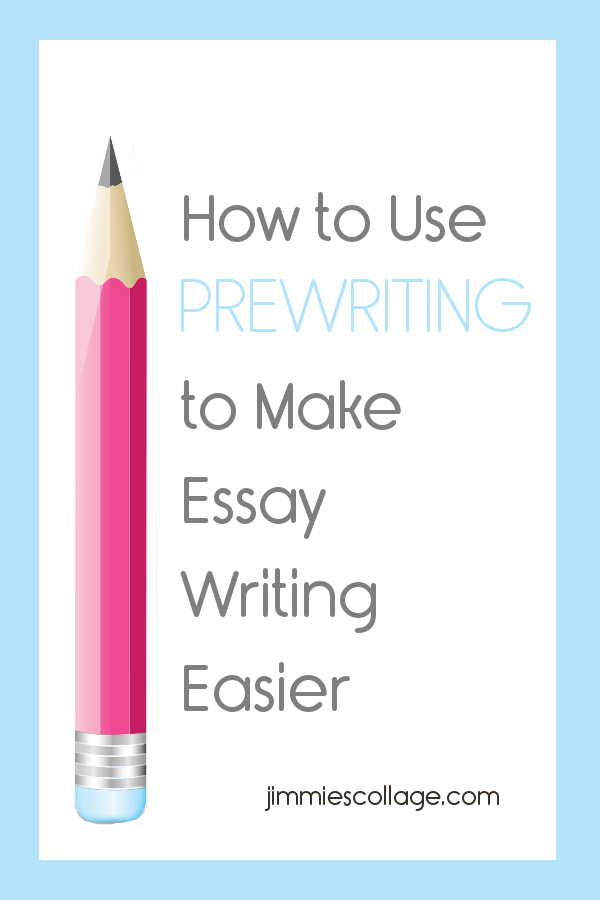 What steps are involved in the prewriting of an essay