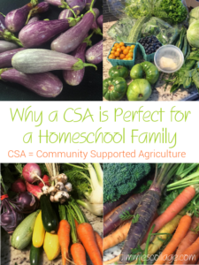 Why a CSA is Perfect for a Homeschool Family
