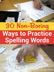 30 Non-Boring Ways to Practice Spelling Words