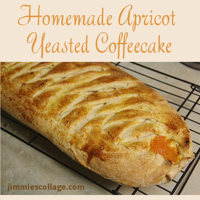 Homemade Apricot  Yeasted Coffeecake