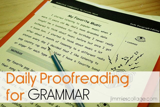 daily proofreading for grammar