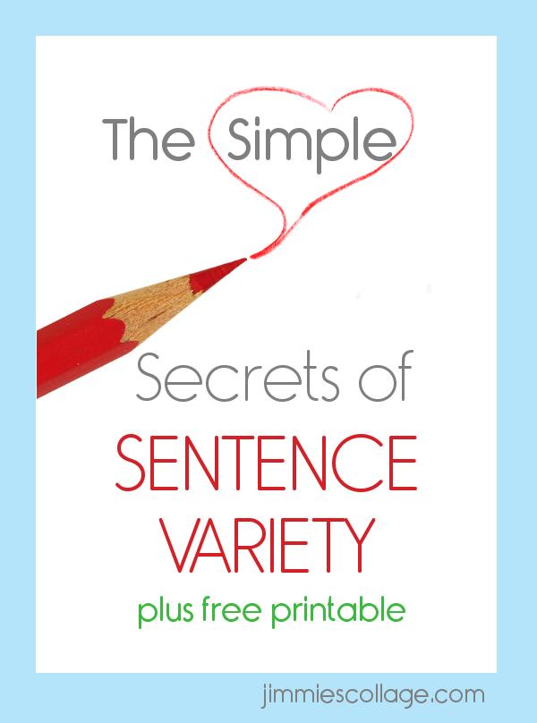 The Simple Secrets of Sentence Variety – Sentence Variety Worksheet