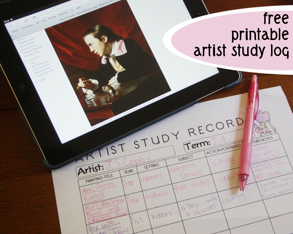 Art Log:  Keeping Track of the Art We Study