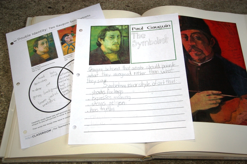 artist study notebooking pages
