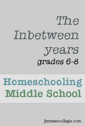 Homeschooling Middle School Years jimmiescollage.com