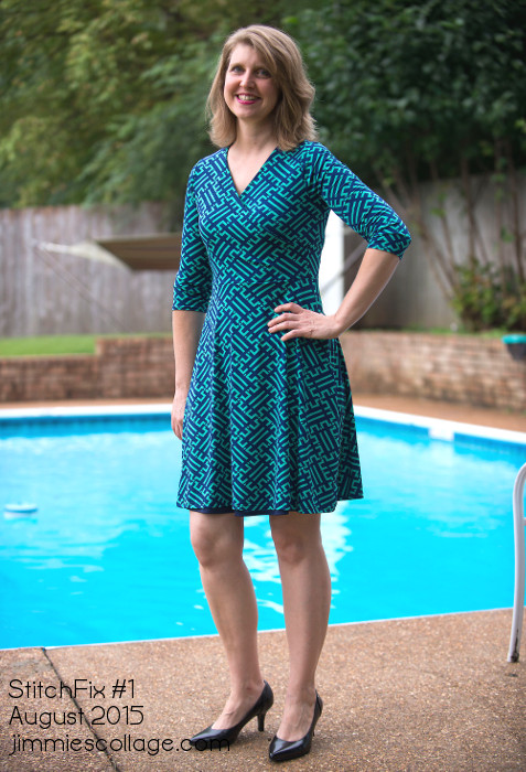 StitchFix Winner #2 Renesme Graphic Print Faux Wrap Dress by 41Hawthorn