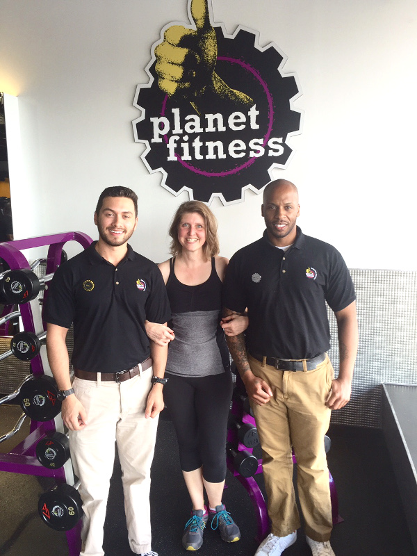 jimmie with Planet Fitness guys Hank and Gabe