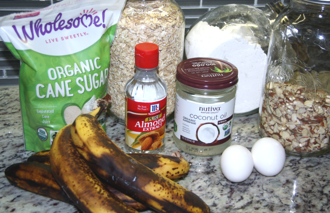 Banana Oat Almond Muffin Ingredients