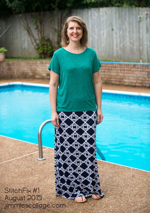 StitchFix Reject #2 Samara Printed Maxi Skirt by Papermoon