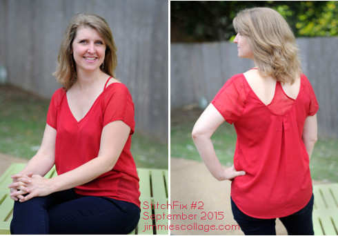 StitchFix Winner #3 Covelin Cut Out Back Blouse by Fun2Fun