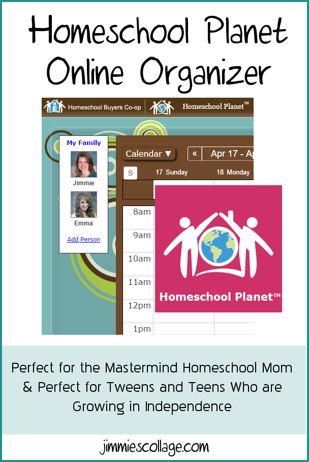 Homeschool Planet Online Organizer: Perfect for the Mastermind Homeschool Mom & Perfect for Tweens and Teens Who are Growing in Independence