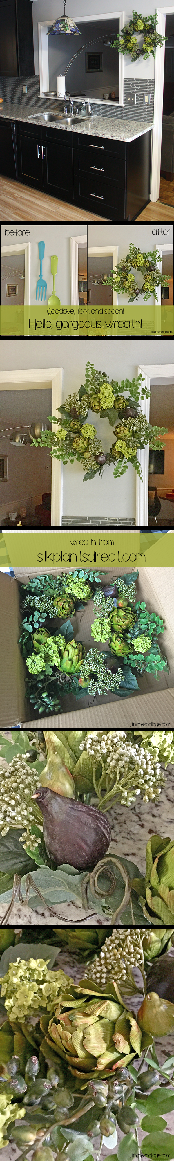 sponsored: Artichoke Floral Wreath from Silk Plants Direct