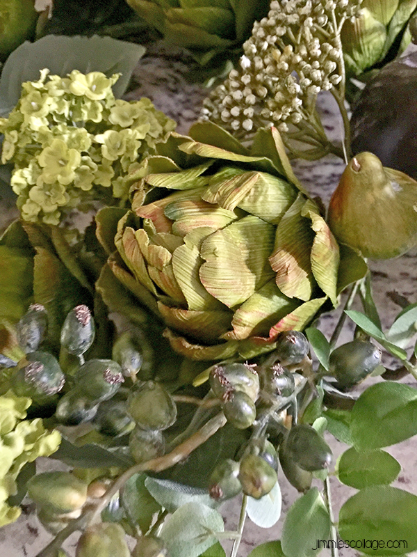 sponsored: Artichoke Floral Wreath from Silk Plants Direct • kitchen decor